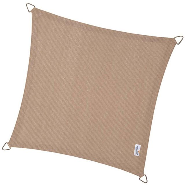 NESLING - Voile d'ombrage carrée Coolfit sable 5 x 5 m