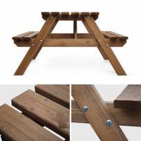 Table banc jardin bois - Achat Table banc jardin bois - Rue du Commerce