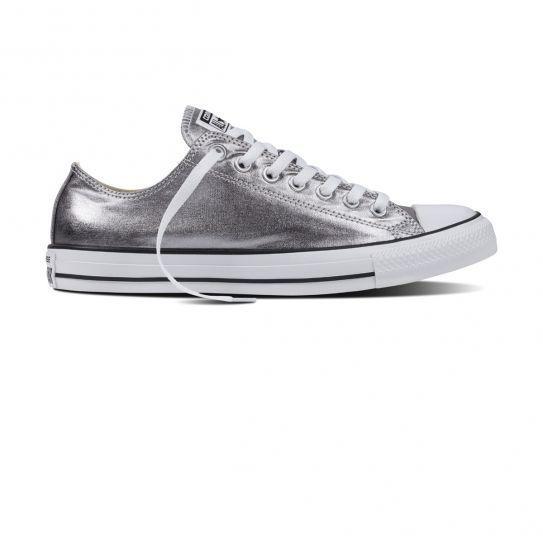 2ef6371b02de Converse - Chaussures All Star GunMetal White Black W h16 - pas cher Achat    Vente Baskets femme - RueDuCommerce