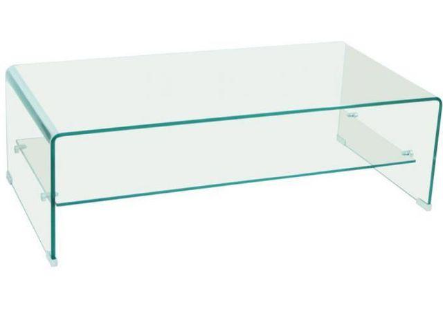 Declikdeco Cette table basse Clear en verre transparent à deux étages est idéale pour recevoir vos amis. Très résistante avec ses 1