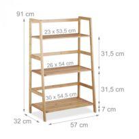 Autre - Etagère sur pied en bambou 3 armoire étages salle de bain salon 91 cm 3213097