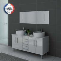 Superbe Distribain   Meuble Double Vasque Dis989 Blanc