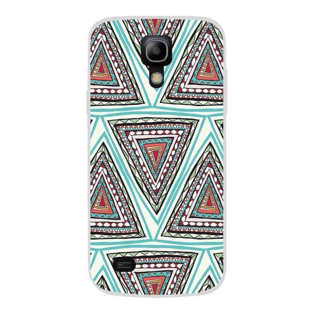 7c472d6d1e852b Allkase - Coque Samsung Galaxy S4 Mini en silicone gel motif Aztec - A039