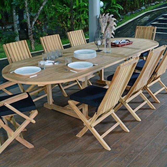 Teck\'ATTITUDE - Salon de jardin en teck qualité Ecograde ...