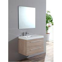 Sanitaire.FR - Meuble simple vasque Saturn 80cm Frêne
