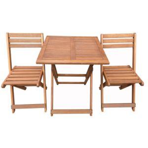 HABITAT ET JARDIN - Salon de jardin en bois exotique Hanoï - Maple ...