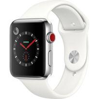 Watch 3 Cellular 42 - Acier / Bracelet Sport blanc coton