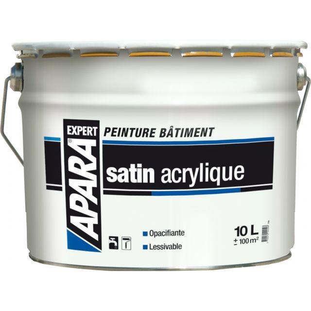 Peinture Blanc Satin Acrylique Bicouche Expert 10 Litres