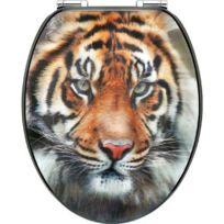 Cornat - Abattant Wc Mdf-laque 3D Tigre