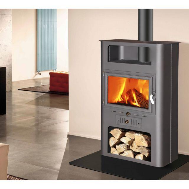 theca burdeos po le bois en t le d 39 acier et fonte 18kw. Black Bedroom Furniture Sets. Home Design Ideas
