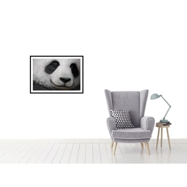 CADRE PHOTO PANDA Affiche encadrée 60x40cm - Panda noir & blanc