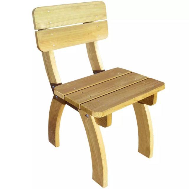 Chaise de jardin Bois de pin imprégné FSC