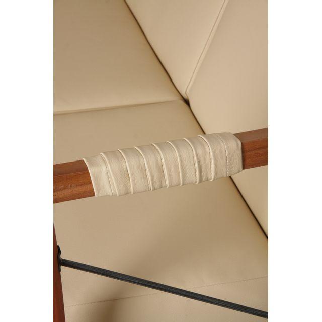 AUBRY GASPARD - Fauteuil en bois de suar massif et métal Beige