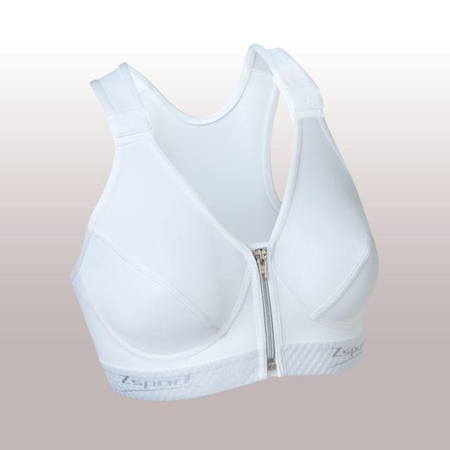 Zsport - Soutien Gorge Zbra Silver Blanc Brassière Femme - pas cher Achat   Vente  Sous-vêtements - RueDuCommerce 7b6e58b03f7