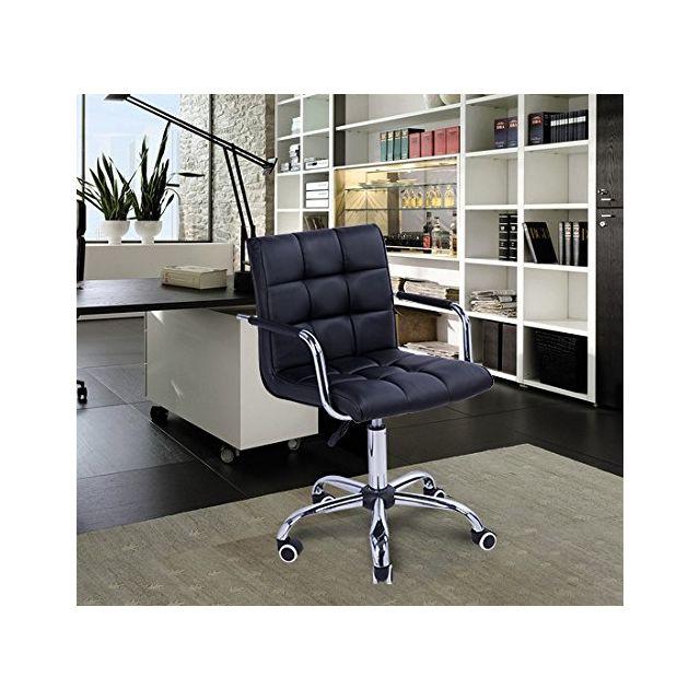 4d346d3fb02d2 HOMCOM - Chaise de bureau fauteuil manager pivotant noir 97 - pas ...