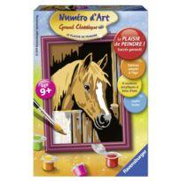 Ravensburger - Peinture au Numéro : Numéro d'art Mini Format : Cheval dans son box
