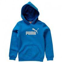 Puma - Ess Large Logo Hd Blu - Sweat Garçon