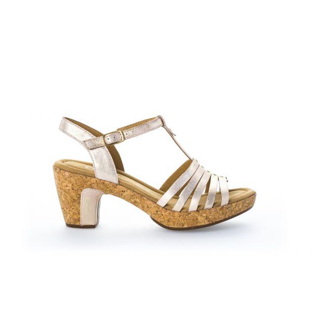 4b55545e4eaa Gabor - Nu-pieds blancs à talon - pas cher Achat   Vente Sandales et ...