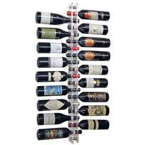 Sobrio - Porte-Bouteilles mural en plexiglas pour 18 bouteilles LED optionnel Plexiglas transparent Aci-sbr101