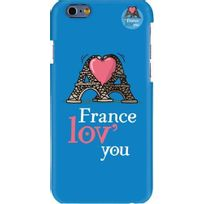 Hihihi - Coque rigide France lov' you bleue pour Apple iPhone 6