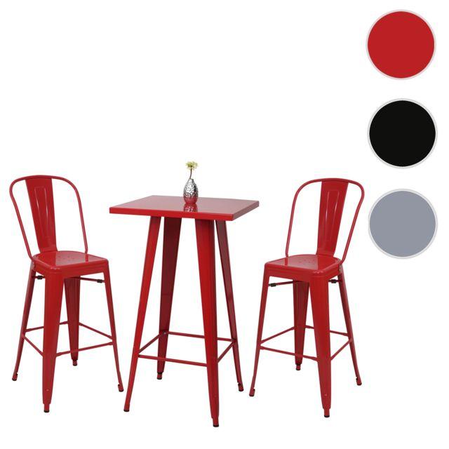 Mendler Mange Tabouret Table Bar Set Hwc De Depout2x A73 mnv08Nw