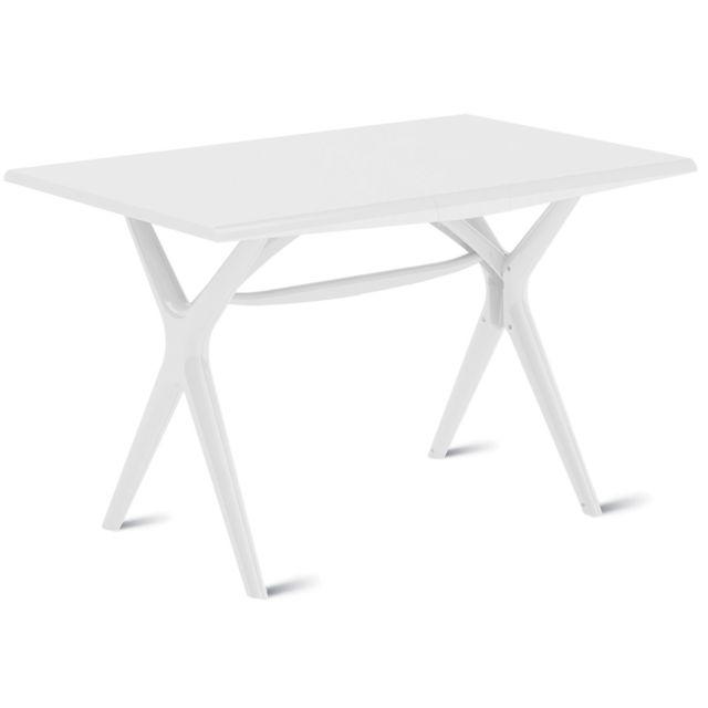 GrosFillex - Table de Jardin Sigma Pliante Blanc 115 x 75 cm - pas ...