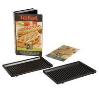 Tefal - Coffret 2 plaques grill panini + Livre de recettes Xa800312