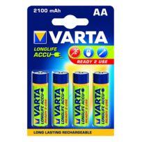 VARTA - lot de 4 piles alcaline type hr6 1.2 volts rechargeables - 56706101404