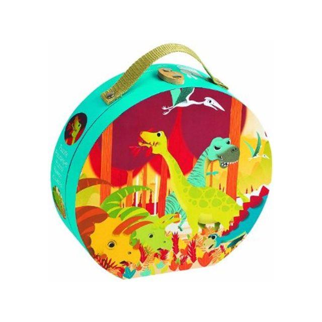 JANOD Valisette ronde : puzzle dinosaures 24 pièces