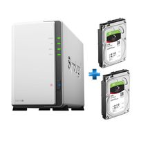 SYNOLOGY - NAS DS216J + 2 disques dur NAS SEAGATE 3 To ST3000VN007 2x3To