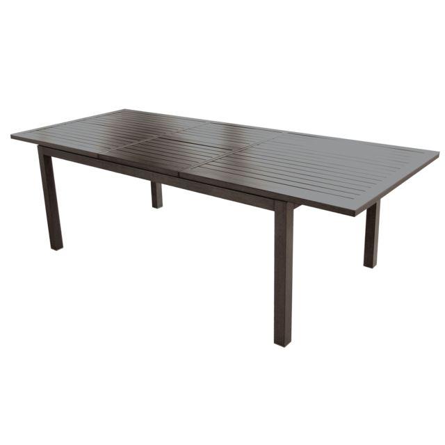 Rendez Vous Deco - Table de jardin extensible 240 cm Mahana taupe ...
