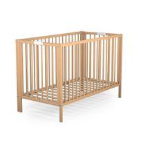 ATELIER T4 - Lit pliant bébé - 60 x 120 cm - Naturel