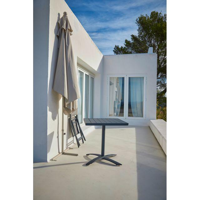 CARREFOUR - Demi-parasol pour balcon - Gris sable