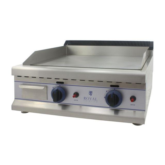 Helloshop26 Plancha à gaz - 65cm - propane/butane - 30mbar acier inox professionnel 3614044