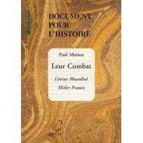 Deterna - document pour l'histoire ; leur combat ; Lénine, Mussolini, Hitler, Franco