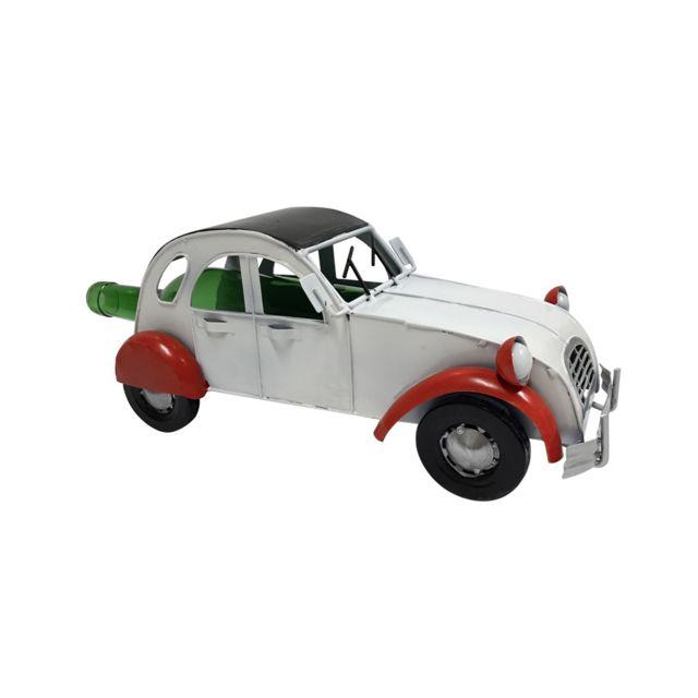 socadis porte bouteille m tal voiture ancienne blanche et rouge premium pas cher achat. Black Bedroom Furniture Sets. Home Design Ideas