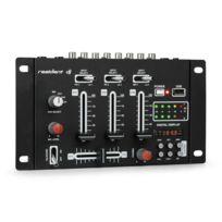 RESIDENT DJ - DJ-21 BT DJ-Mixer Table de mixage Bluetooth USB - noir