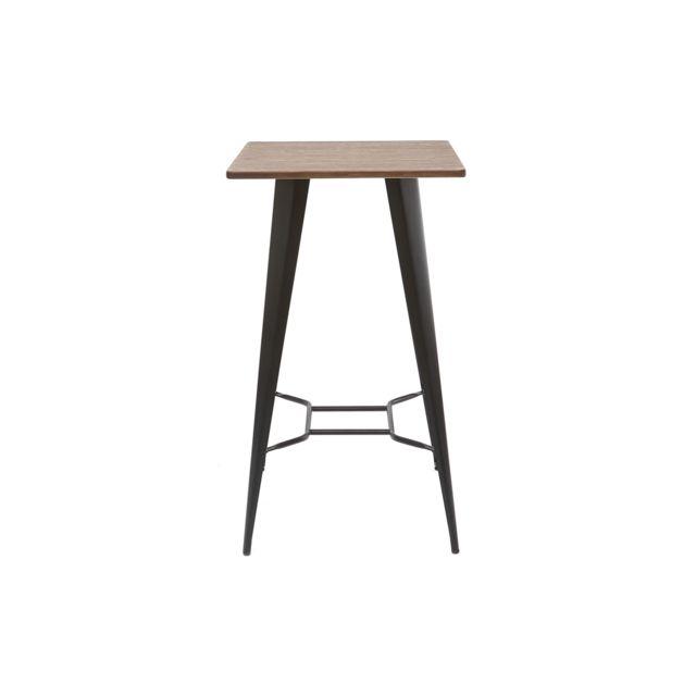 Miliboo Table de bar métal noir Hocker