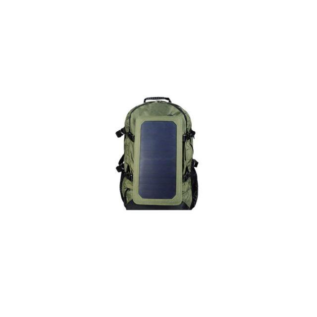 Auto-hightech - Sac à dos à panneau solaire, Sac à bandoulière d'extérieur unisexe avec fonction de charge Usb
