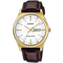 Casio - Mtpv003GL-7a montre homme Bracelet synthéthique.Cadran avec jour et date.Verre minéral. Garantie 2 ans.Taille du cadran : 45.1 × 38 × 9.4 mm