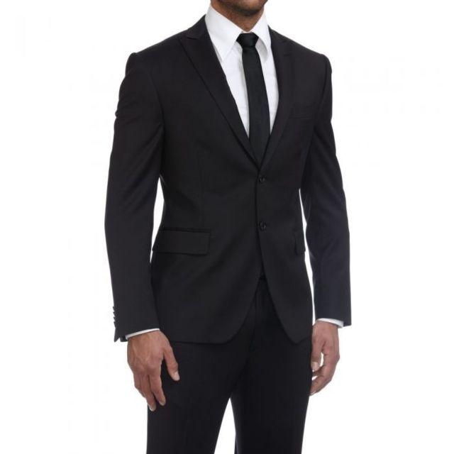 prestige man costume homme cintr noir dario pas cher achat vente costumes rueducommerce. Black Bedroom Furniture Sets. Home Design Ideas