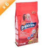 Brekkies - Délice Croquettes au poulet. a la dinde et aux légumes - Pour chat adulte - x6