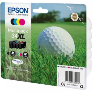 EPSON Multipack Balle de golf XL Noir, Cyan, Magenta, Jaune