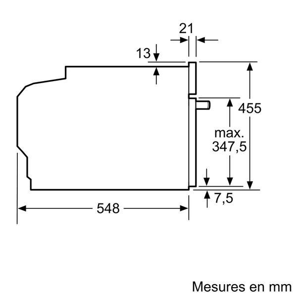 NEFF - four intégrable compact 47l 60cm a+ pyrolyse inox - c27cs22n0