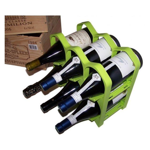 Drinkcase Casiers à bouteilles couleur Vert, Design et empilables Pack de 15 Casiers