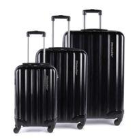 Alpini - Lot de 3 valises rigide 4 roues Selecta S noir Metzelder