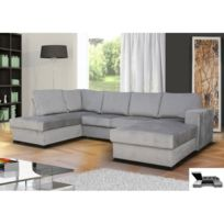 meublesline canap dangle convertible oara 6 places moderne tissu simili cuir - Canape Cuir Angle Convertible