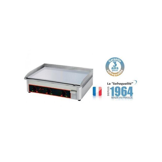 Sofraca Plaque à snacker chromée - Electrique - L 900 mm Acier émaillé