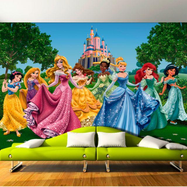 Bebe Gavroche Papier Peint Chateau Et Princesses Disney 360x255 Cm