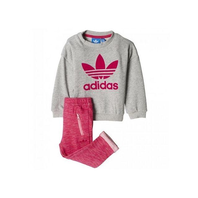 fc96dc4883c Adidas originals - Crew Bébé Fille Survêtement Rose Multicouleur - 1 ...